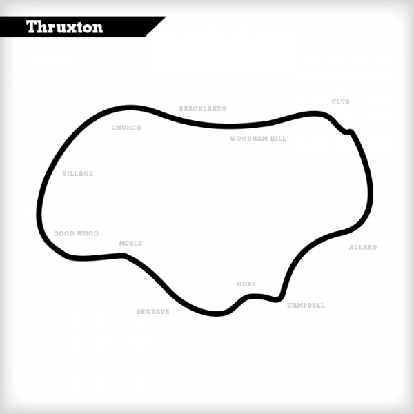 Thruxton Circuit Map Track Days Test Days motorsportdays.com