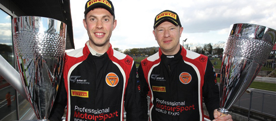 Johnson-and-Robinson-draw-first-blood-at-Brands'-British-GT4-season-opener--motorsportdays